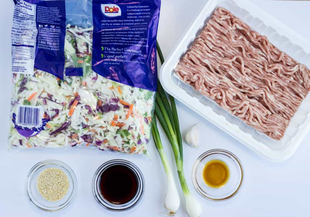 Keto Egg Roll in a Bowl Ingredients