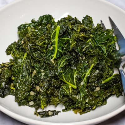 Skillet Braised Kale with Garlic Recipe