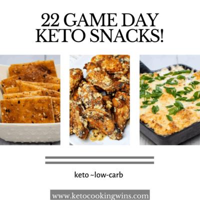 22 Game Day Keto Snacks