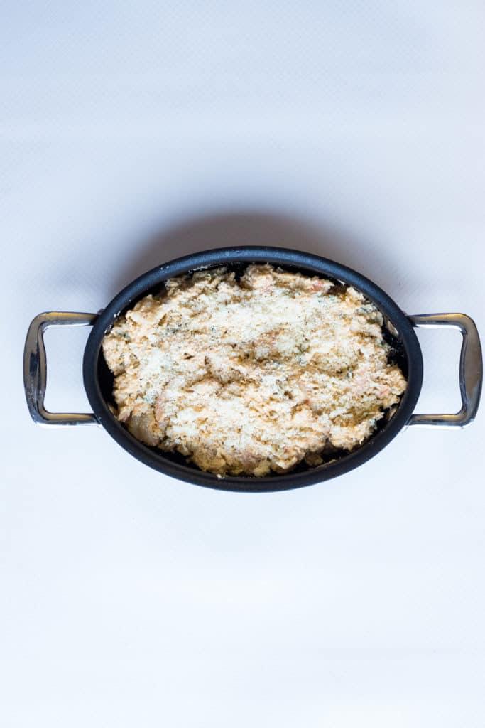 bake the keto shrimp dip in the oven