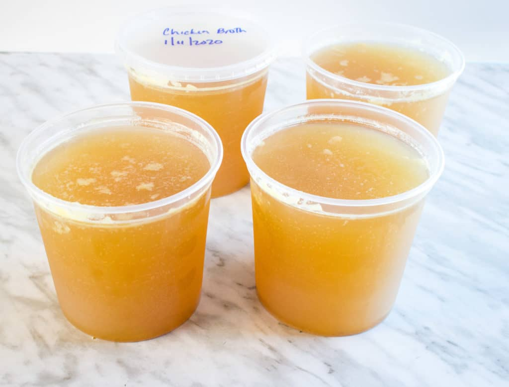 Freeze the finished bone broth and use in recipes