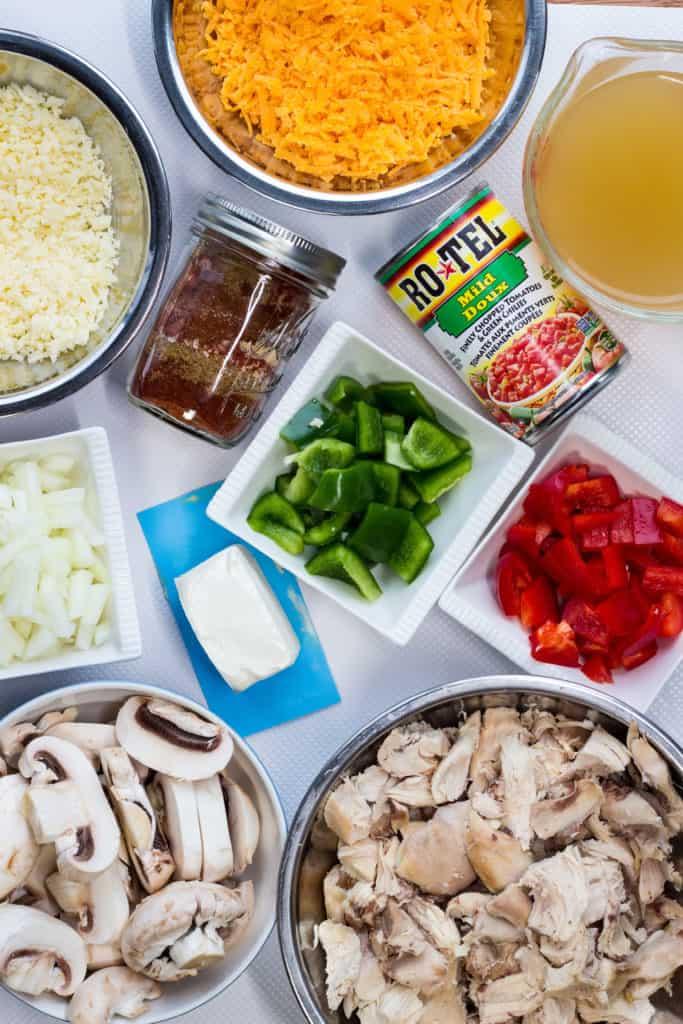 ingredients to make Keto King Ranch Chicken Casserole