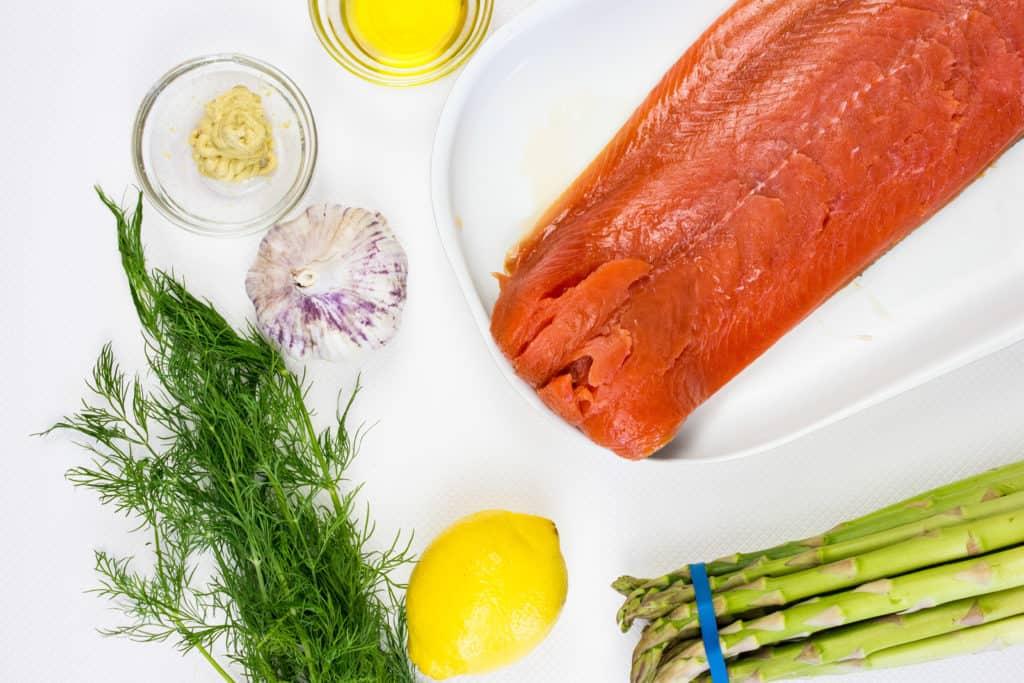 keto sheet pan salmon ingredients