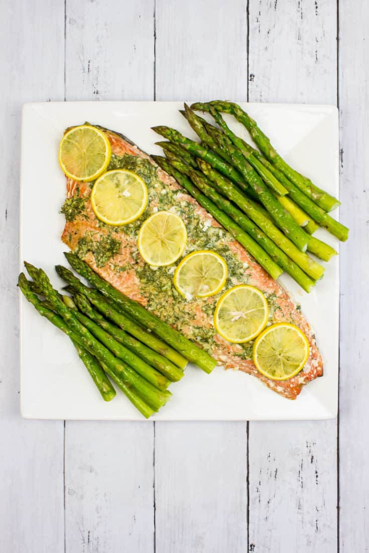 Keto Sheet Pan Salmon & Asparagus