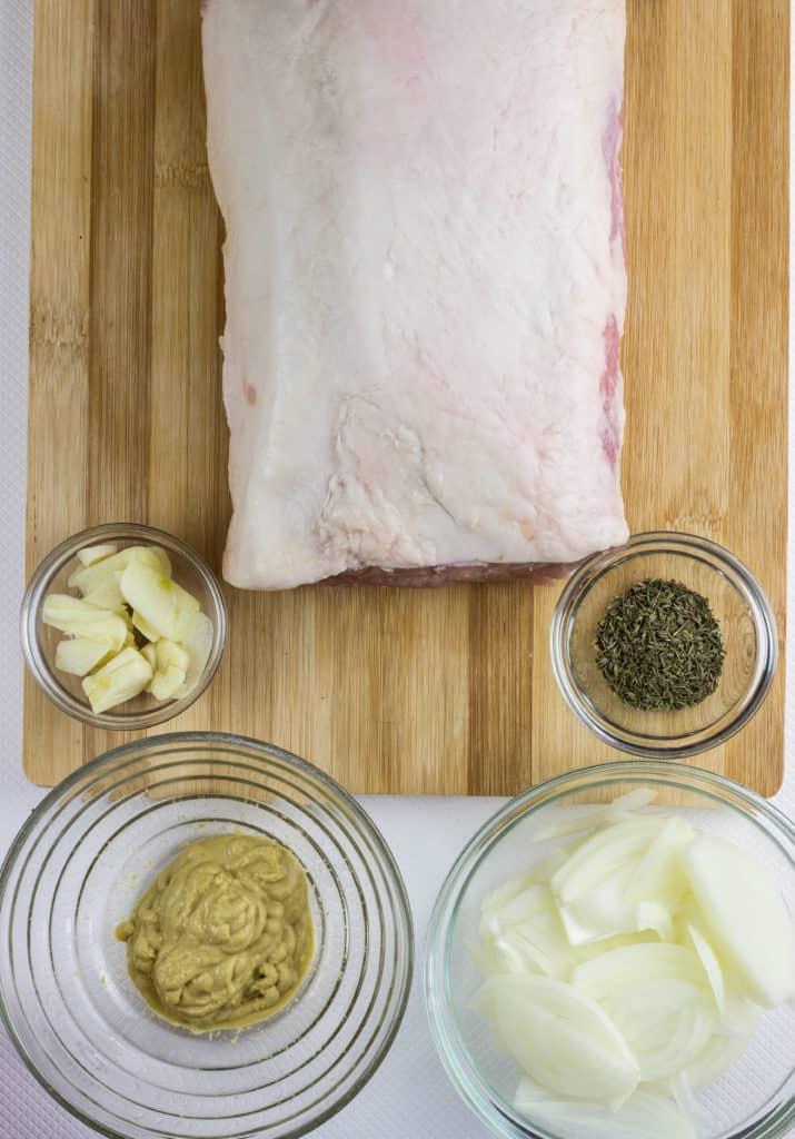 sous vide pork loin ingredients