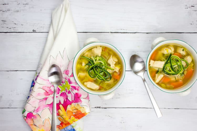 Grandma's Chicken Zoodle Soup