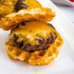 keto air fryer burgers on a plate